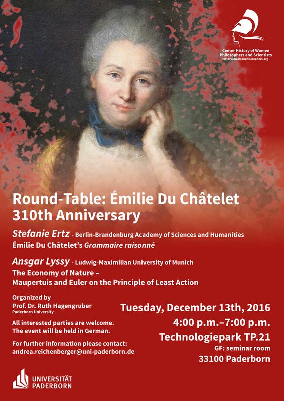 Émilie Du Châtelet – 310th Anniversary