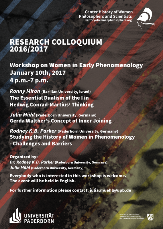 Women in Early Phenomenology