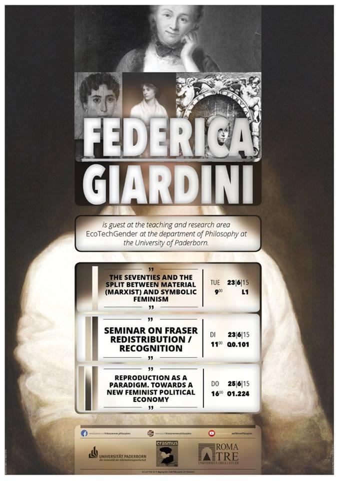 """""""Feminist Economics"""" – Erasmus Lecture by Prof. Dr. Federica Giardini"""