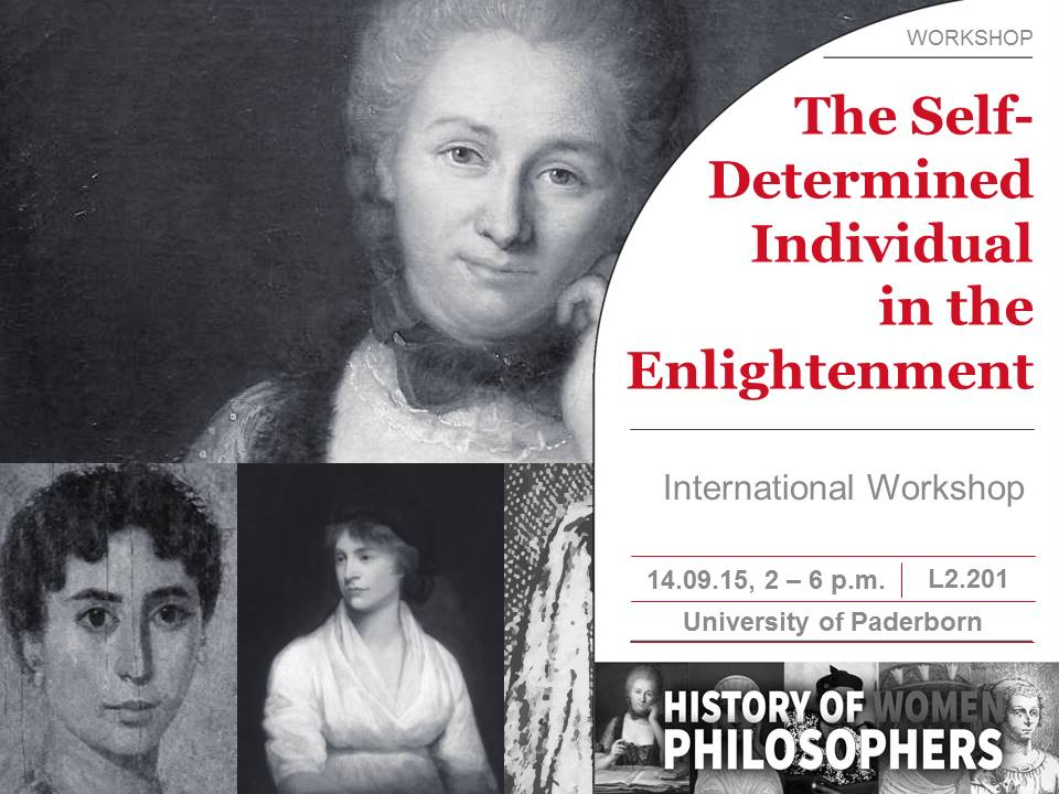 International Workshop: The Self-Determined Individual in the Enlightenment