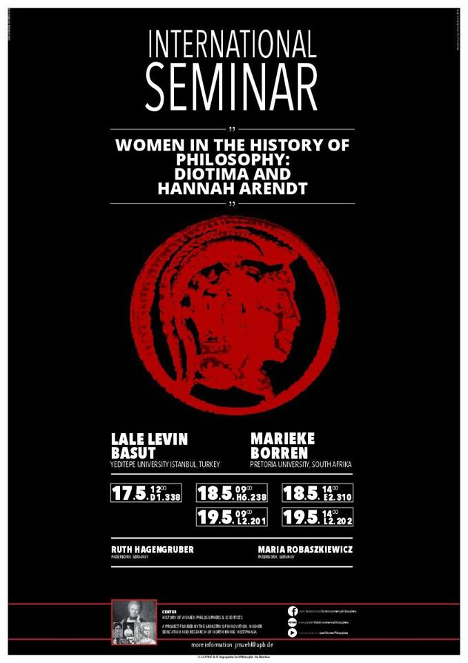International Seminar – Women in the History of Philosophy: Diotima and Hannah Arendt