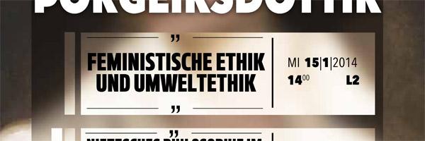 """Prof. Dr. Sigríður Þorgeirsdóttir: """"Feministische Ethik und Umweltethik"""""""