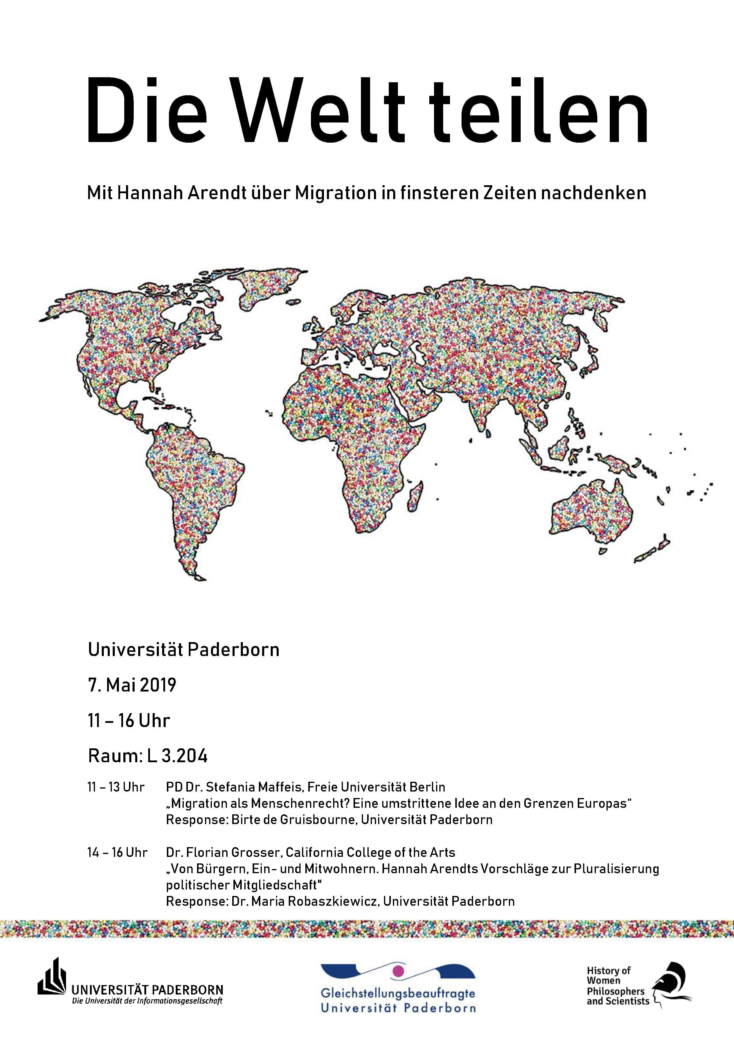"""Florian Grosser and Stefania Maffeis – """"Die Welt teilen: Mit Hannah Arendt über Migration in finsteren Zeiten nachdenken"""""""