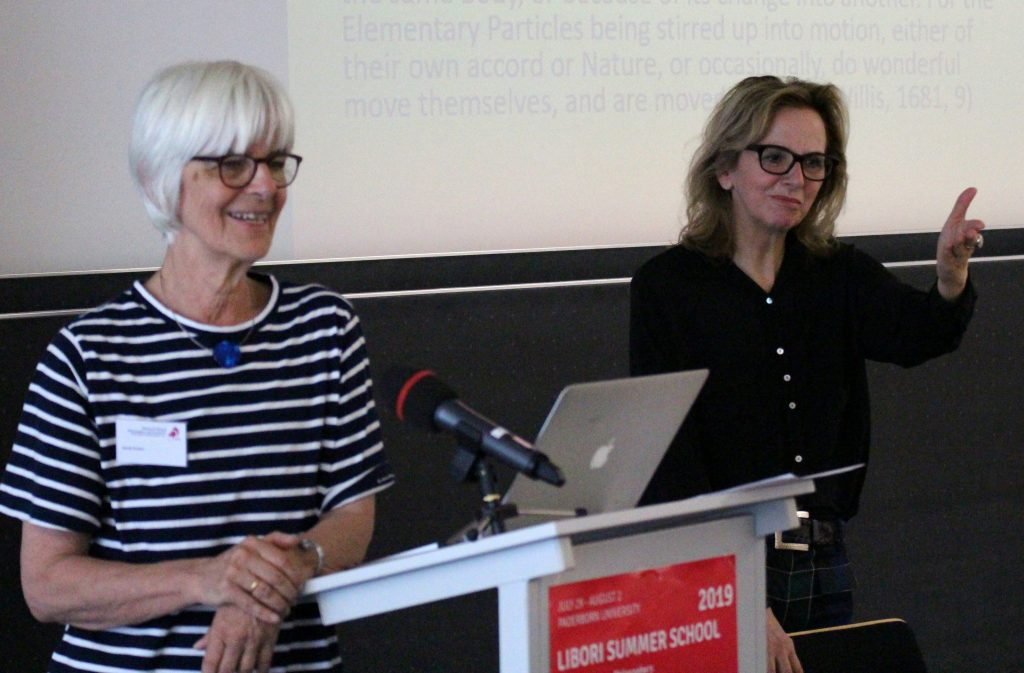Sarah Hutton and Ruth Hagengruber at the Libori Summer School Teaching Women Philosophers